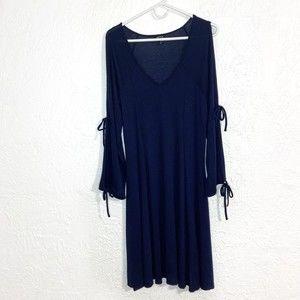 Torrid navy blue open arm sweater dress